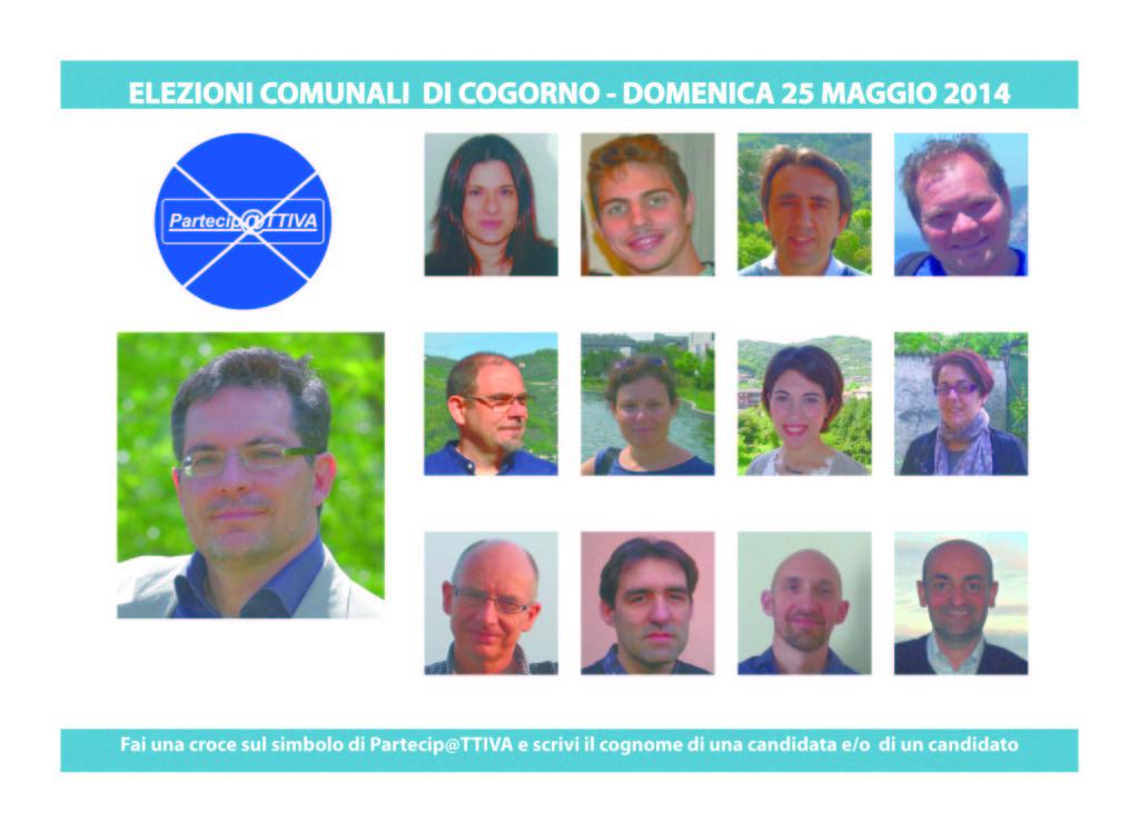 I candidati a Cogorno