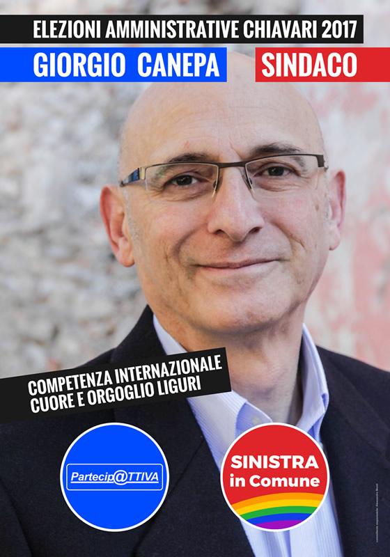 Giorgio Canepa Sindaco Chiavari Elezioni 2017