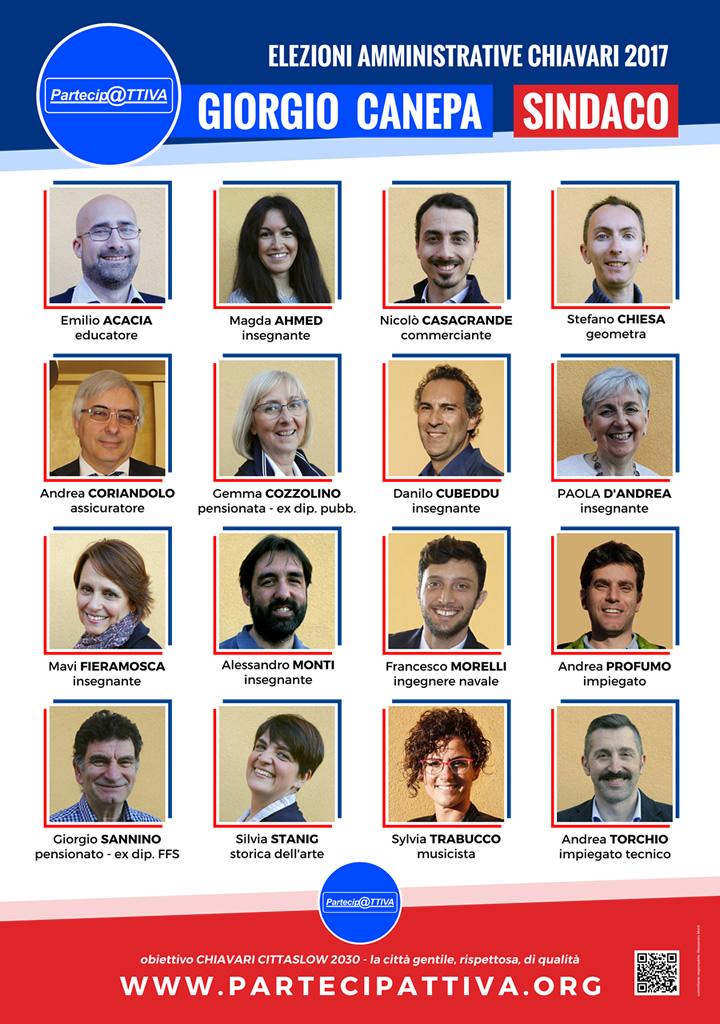 candidati elezioni chiavari 2017