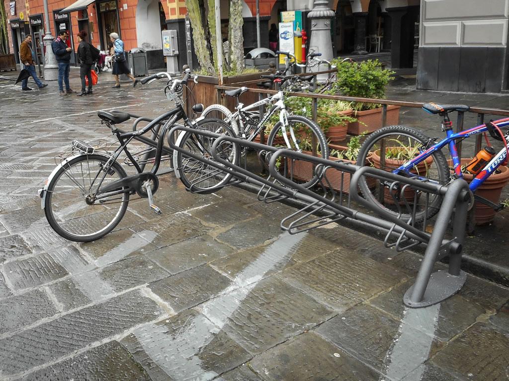 mappa dei cicloposteggi a  Chiavari - mobilita sostenibile