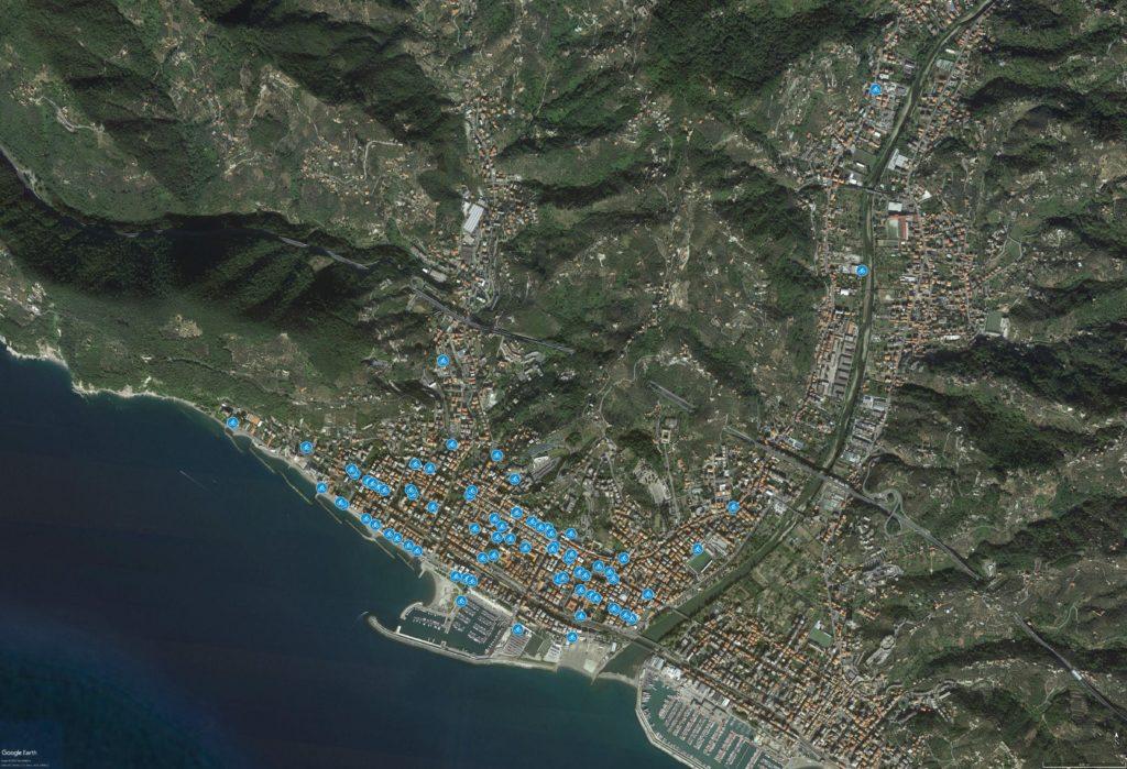Mappa dei Cicloposteggi - Chiavari