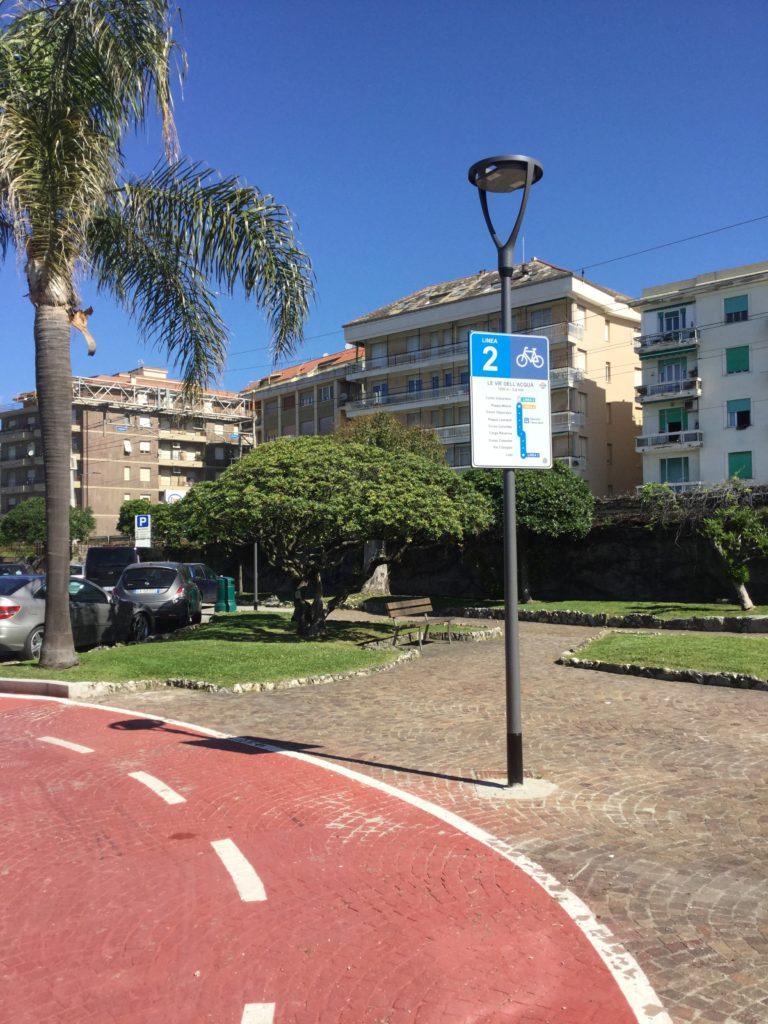 Chiavari - nuova cartellonistica per la rete ciclabile cittadina